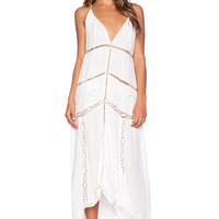 Love Sam Olivia Dress in White & Cream
