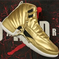 "Duangstyle -Air Jordan 12 Retro ""GOLD"" 130690-103"