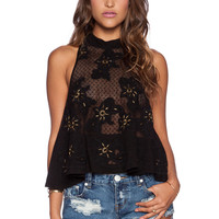 Free People Frankie Tank in Black