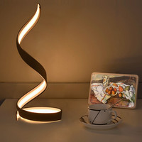 Creative flame shape Led desk light lamp