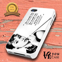 Quote By Audrey Hepburn for iphone, ipod, samsung galaxy, HTC and Nexus PHONE CASE