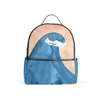 Wave Watercolor Backpack