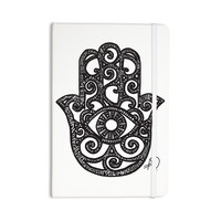 "Hippie Polar Bear ""Hamsa Hand"" Black White Everything Notebook"