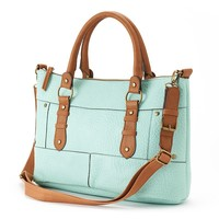 SONOMA life + style Painted Edges Convertible Satchel (Green)