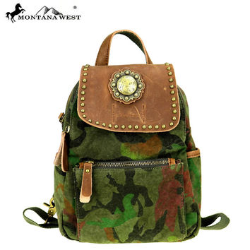 Canvas and Leather Mini Backpack