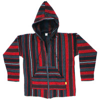 Red Striped Baja Hoodie