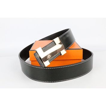 Hermes belt men's and women's casual casual style H letter fashion belt184