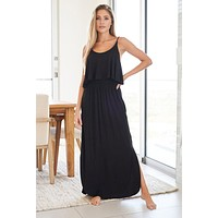 Casual Obsession Black Maxi Dress