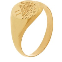 Alex Monroe Nautical Engraved Signet Ring | Harrods