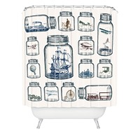 Belle13 Vintage Preservation Shower Curtain