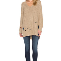 Wildfox Couture Dusk Tunic Sweater in Oatmeal