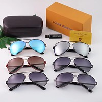 LV 2018 new men's casual fashion retro polarized sunglasses