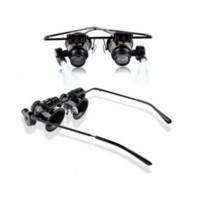 20X Binocular Magnifier Glasses with LED Light