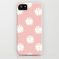 Pink Daisy Love iPhone & iPod Case by Pink Berry Pattern