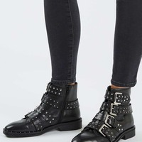 AMY Studded Ankle Boots   Topshop