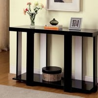 Lakoti II collection contemporary styling black and white high gloss sofa console entry table