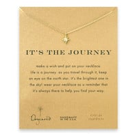 """Dogeared It's The Journey North Star Gold Dipped Reminder Wish 16"""" Necklace"""