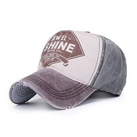 Home Prefer Distressed Vintage Baseball Cap Cotton Twilled Adjustable Trucker Hat Outdoor Sun Protection Hat Brown
