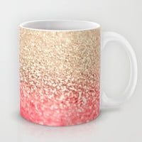 GOLD CORAL Mug by Monika Strigel