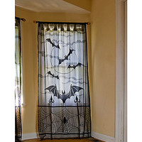 Lace Bat Window Panel - Spirithalloween.com