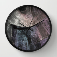 Refractions Wall Clock by Jenartanddesign | Society6