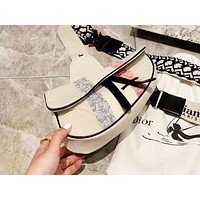 DIOR popular women's striped printed shoulder bag with a casual shopping bag