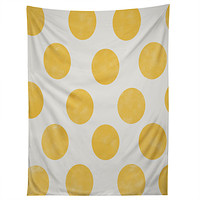Allyson Johnson Spring Yellow Dots Tapestry