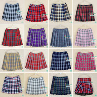 Limited Time-limited Women's Pleated Skirts Plus Size Xs-4xl Uniforms Skirt For Women Students High Quality Grid Tennis