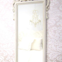 SHABBY CHIC NURSERY Mirror French Country Mirrors Ivory White Ornate Unique French Provincial Vintage Mirror