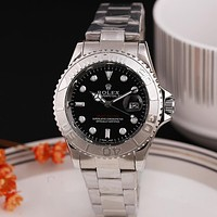 Rolex classic men's and women's steel strap watches