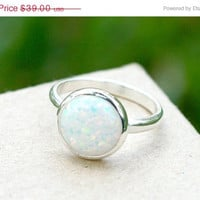 Boxing Day Sale Opal Ring,inlaid Opal Ring,Sterling Silver ring,october birthstone,stone ring,agate ring,statement ring