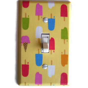 Ice Pops and Ice Cream Dreams Single Toggle Switchplate, switch plate wall decor