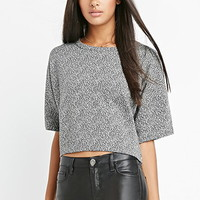 Marled Terry Dolman Top