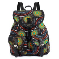 Sansarya New 2017 Women Vintage Retro Black White Sunflower Printing Canvas Backpack Mochila Escolar Feminina Bagpack Rucksack