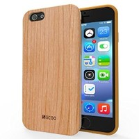iPhone 6 Case Wooden, Slicoo Wooden Slim Case Wood Case for iPhone 6 4.7 inch