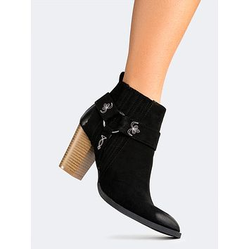 Side Embroidered Ankle Bootie
