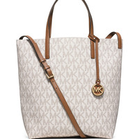 Hayley Large Convertible Tote Bag, Vanilla