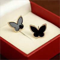 Elegant Temperament Butterfly Gold Color Earrings For Women