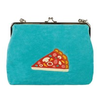 Velvet Crossbody Bag | Pizza