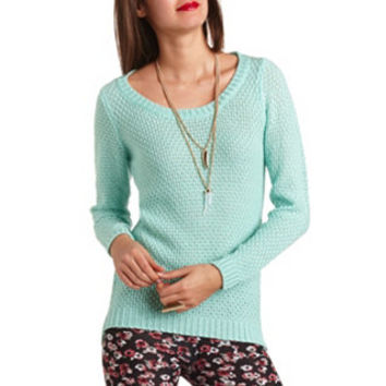 POINTELLE KNIT PULLOVER SWEATER