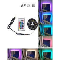 1pc Multicolored Strip Light With Remote Control