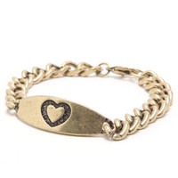 With Love From CA Heart ID Bracelet at PacSun.com