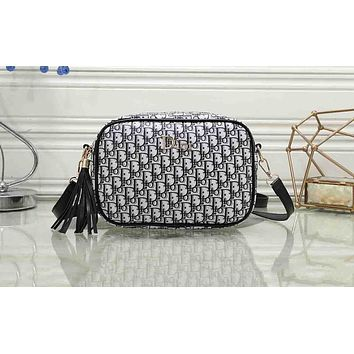 Dior Sell Fashion Sell Women's Single Shoulder Bags Black