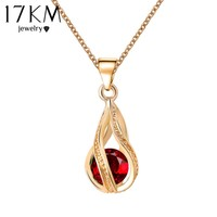 17KM Long Austrian Crystal Water Drop Necklaces & Pendants Gold Color Silver Color Maxi Necklaces for Women Gift collares 2016
