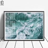Nordic Ocean Posters and Prints Sea Wall Art Canvas Painting Wall Pictures For Living Room Home Decoration