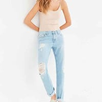 BDG Slim Boyfriend Jean - Vintage Denim Slash