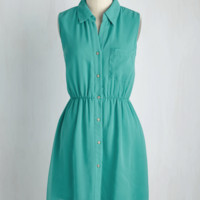 Freelance at Last Dress in Teal | Mod Retro Vintage Dresses | ModCloth.com