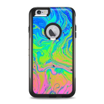 The Neon Color Swirls Apple iPhone 6 Plus Otterbox Commuter Case Skin