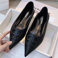 Balenciaga new pointed toe double B letter buckle high-heeled stilettos Shoes
