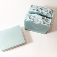 Quietude Soap, Spa Soap, Cold Process Soap, Greeery Soap, Floral Soap, Relaxing Soap, Homemade Soap, Handmade Soap, Women's Soap, Blue Soap